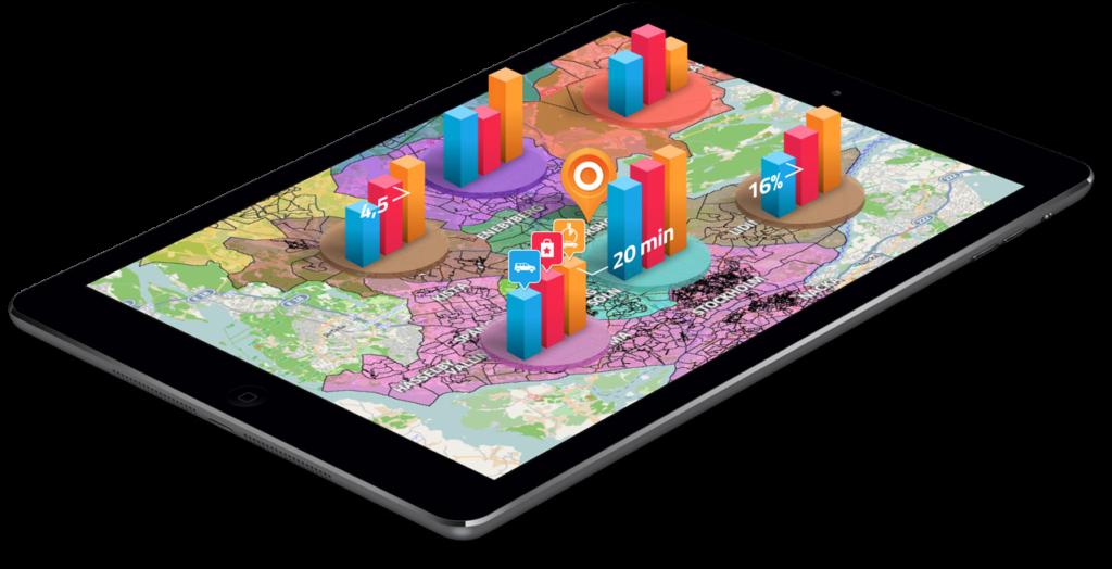 map platform mockup